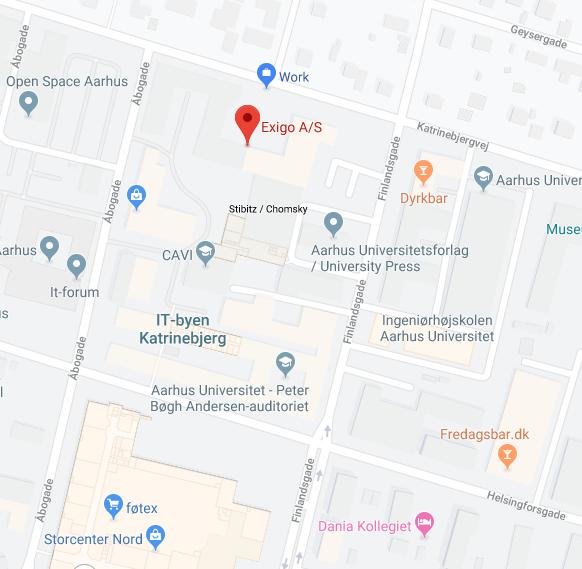 Google Maps - Where is the Exigo main office?